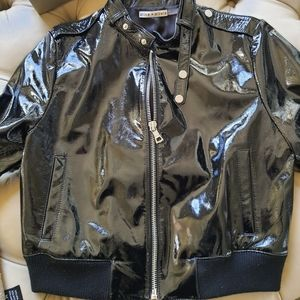 Leather Patent Jacket 🔥 by Alice and Olivia